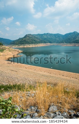Beautiful landscape of Khundanprakarnchon dam, Thailand - stock photo
