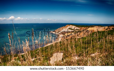 Beautiful landscape of Marthas Vineyard Island, Massachusetts. - stock photo