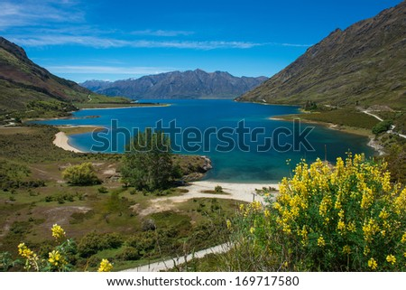 Beautiful landscape of South island, New Zealand.