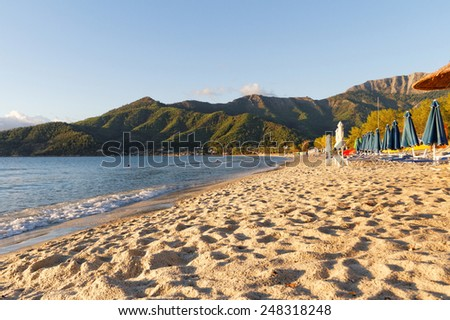 Beautiful landscape of the sea in Greek, Thassos - stock photo