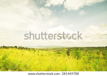 Beautiful landscape of valley in Thailand - stock photo