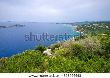 Beautiful landscape on Corfu - Greece