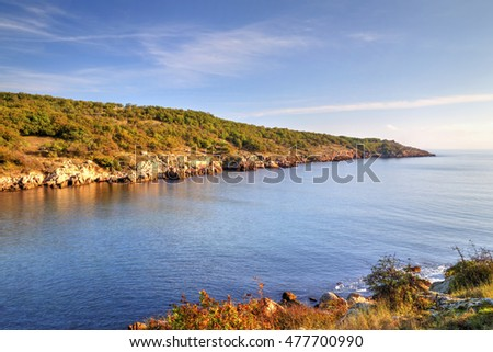 Beautiful landscape on rocky shore