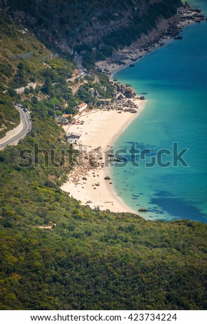 Beautiful landscape view of the National Park Arrabida in Setubal,Portugal.