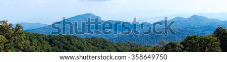 Beautiful landscape with Mountains view, Doi Inthanon, Chiang Mai , Thailand.