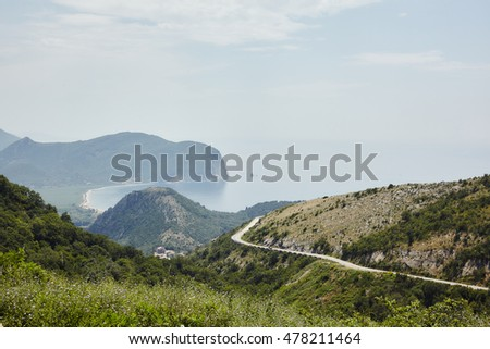 Beautiful landscapes of Montenegro, Adriatic Sea and rocks