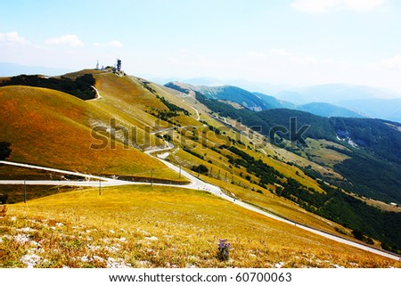 Beautiful Landscapes of the mountains taken in the Apennines, Italy