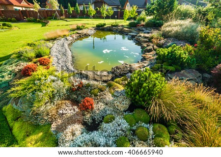 beautiful landscaping with beautiful plants and flowers. Landscaping Stock Images  Royalty Free Images   Vectors   Shutterstock
