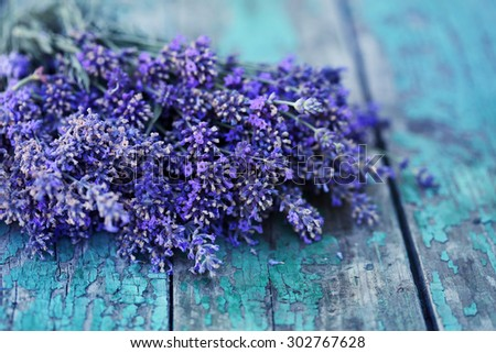 Beautiful, large bouquet of lavender - stock photo