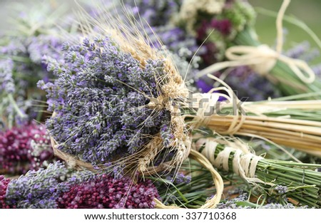 Beautiful lavender hand-made bouquet
