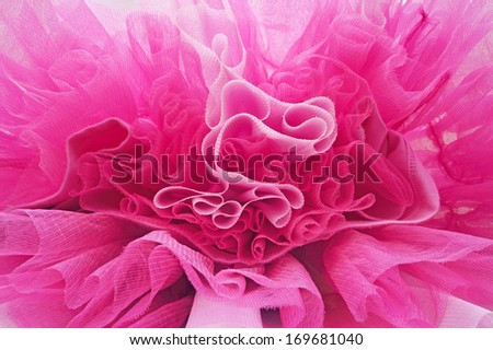 Beautiful layers of delicate pink fabric - stock photo