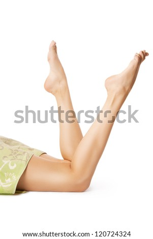 Beautiful legs after waxing - stock photo
