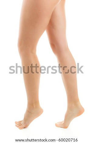 Beautiful legs isolated on a white background