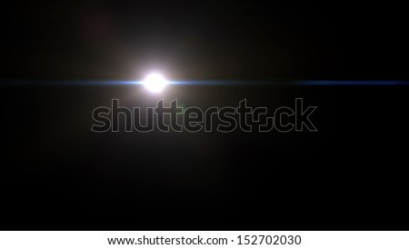 beautiful lens flare effect is simple to add on background - stock photo
