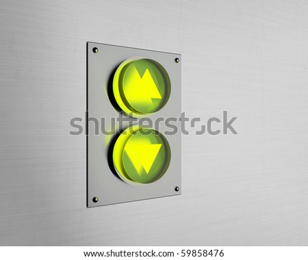 beautiful lift buttons - stock photo