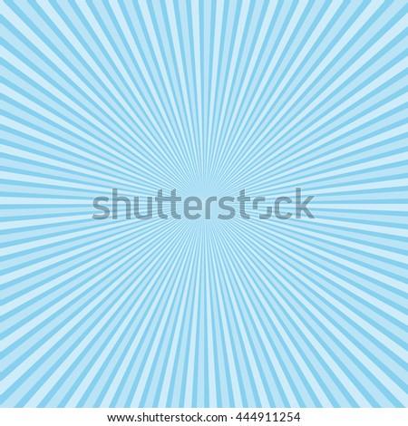 Beautiful light blue sunburst background. - stock photo