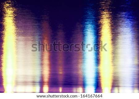Beautiful light reflect on the water  - stock photo