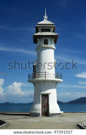 Beautiful lighthouse on Koh Chang island, Thailand