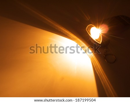 Beautiful lighting background from light torch. - stock photo