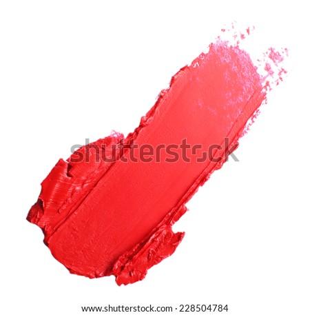 Beautiful lipstick isolated on white - stock photo