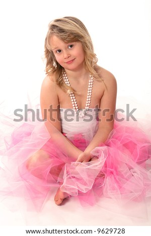Beautiful little girl in ballerina dress
