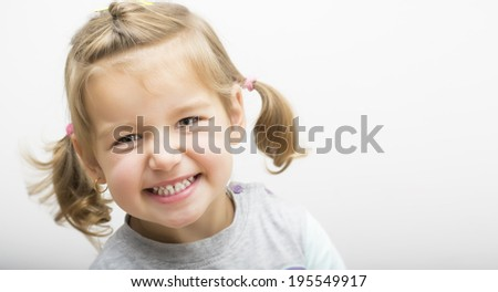 Beautiful little girl laughing