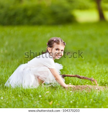 Beautiful little girl outdoors