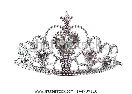 Beautiful little silver crown - stock photo