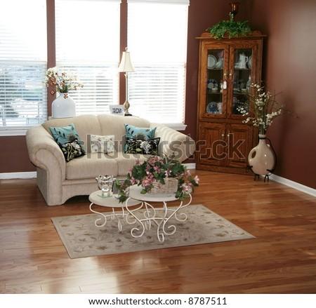 Beautiful living room - stock photo
