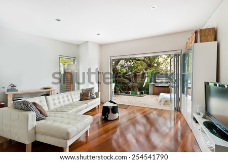 Beautiful Living room Architecture Stock Images - stock photo