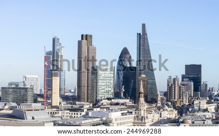 Beautiful London skyline. - stock photo