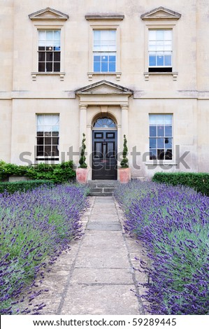 Beautiful London Town House and Garden - stock photo