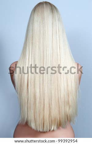 Beautiful long hair /woman - stock photo