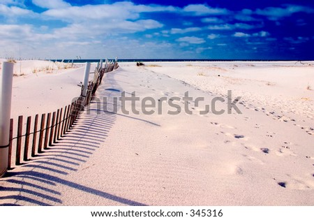 beautiful look of Florida clean beaches - stock photo
