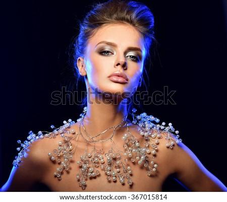 Beautiful Luxury Winter Woman - stock photo