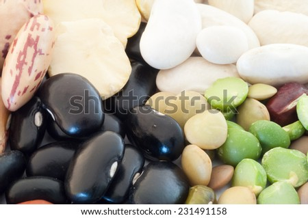 beautiful macro of italian colored vegetarian soup - stock photo