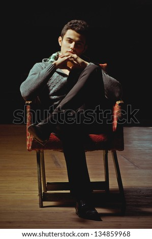 Beautiful man in fashionable clothes - stock photo
