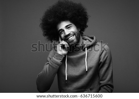 Beautiful man with an afro