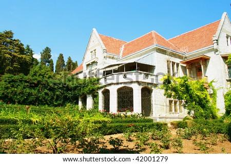 beautiful mansion - stock photo