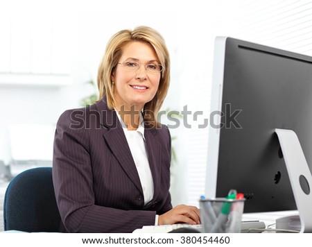 Beautiful mature business woman. - stock photo