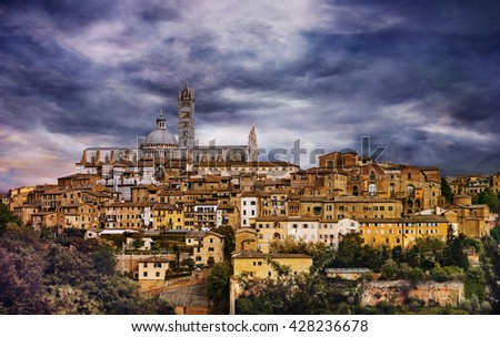 Beautiful medieval town in Tuscany, Siena