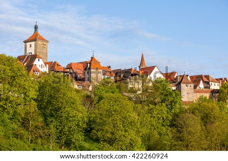 Beautiful medieval town of Rotenburg, Bavaria, Germany