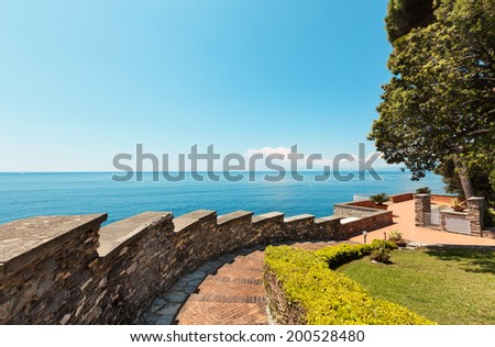 beautiful Mediterranean landscape, sea and sky - stock photo