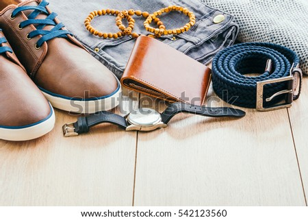 Fashion Denim Blue Mens Jeans With Free Belt And Wallet