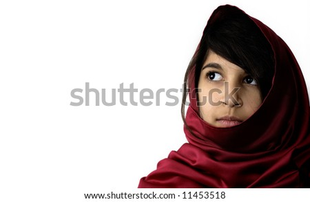 Beautiful Middle Eastern Girl - stock photo