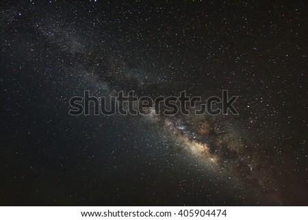 Beautiful milky way galaxy on a night sky - stock photo