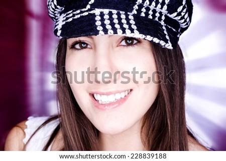 Beautiful model headshot  - stock photo