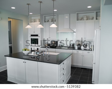 beautiful modern kitchen with center island
