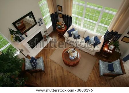Beautiful modern Living Room - stock photo