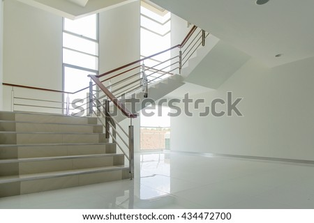 Beautiful modern loft, staircase view - stock photo